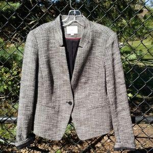 Loft size 10 black and white single button jacket